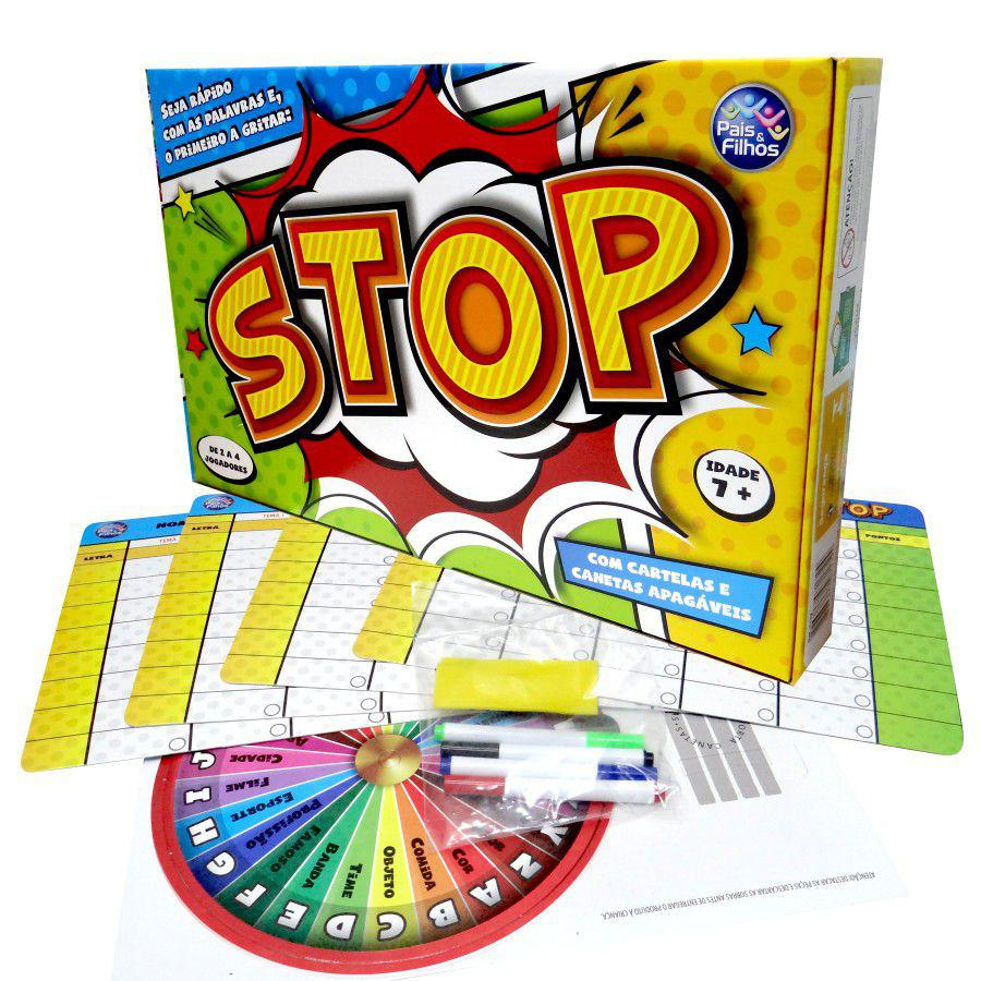 Jogo de Tabuleiro Stop - Pais e Filhos