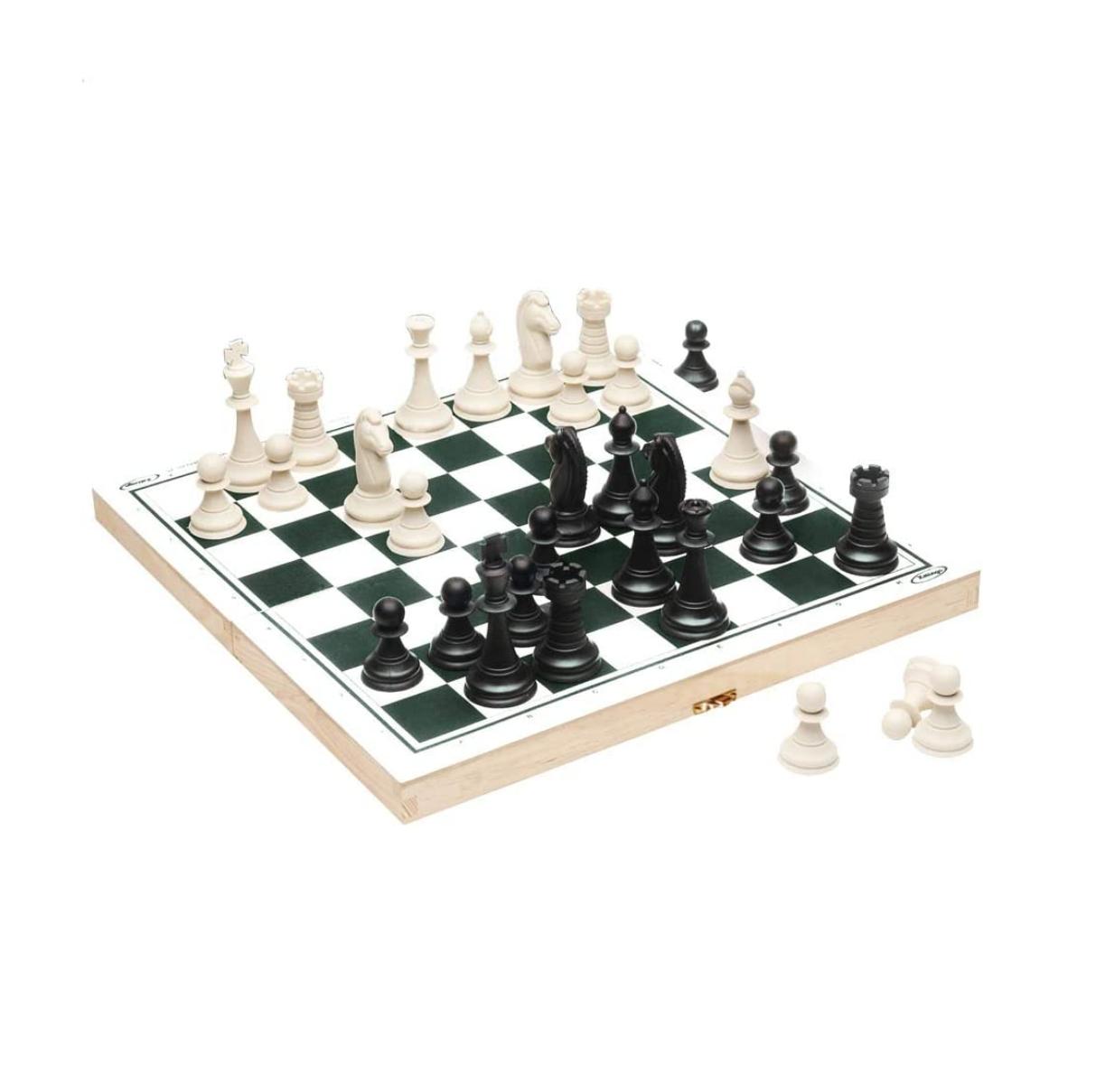 Jogo De Xadrez Com Tabuleiro De Madeira - Xalingo 60009