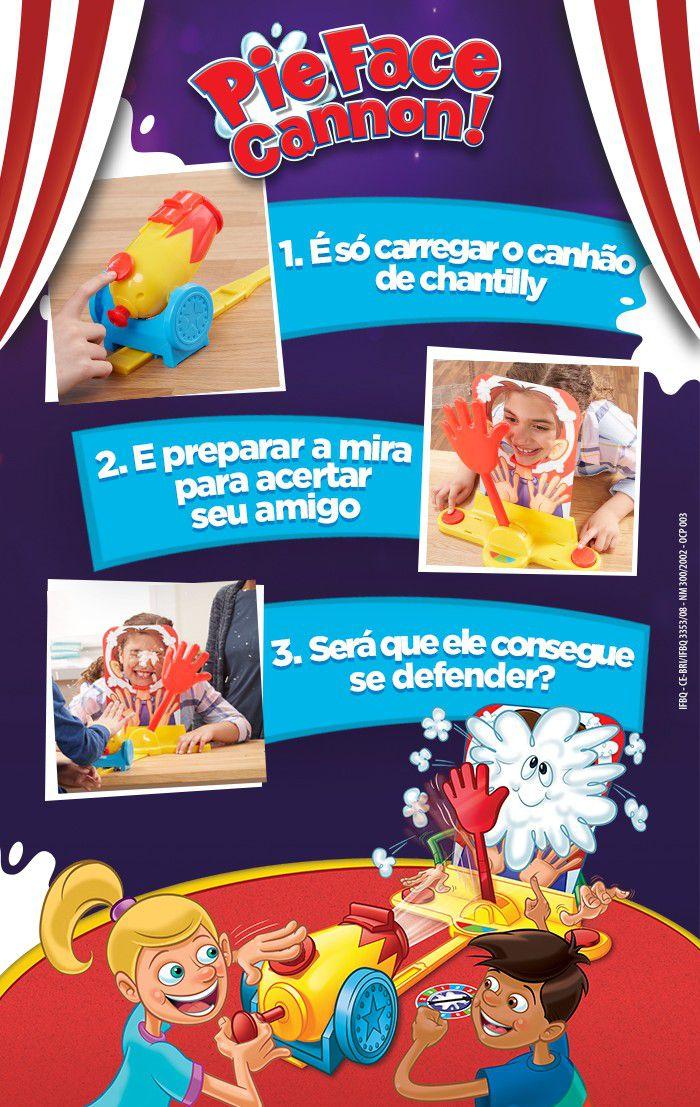 Jogo Torta na Cara Canhão Original - Hasbro