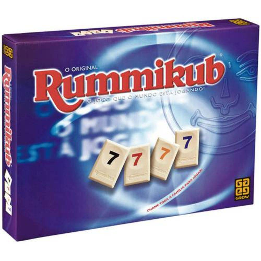 Jogo de Tabuleiro Rummikub Original - Grow