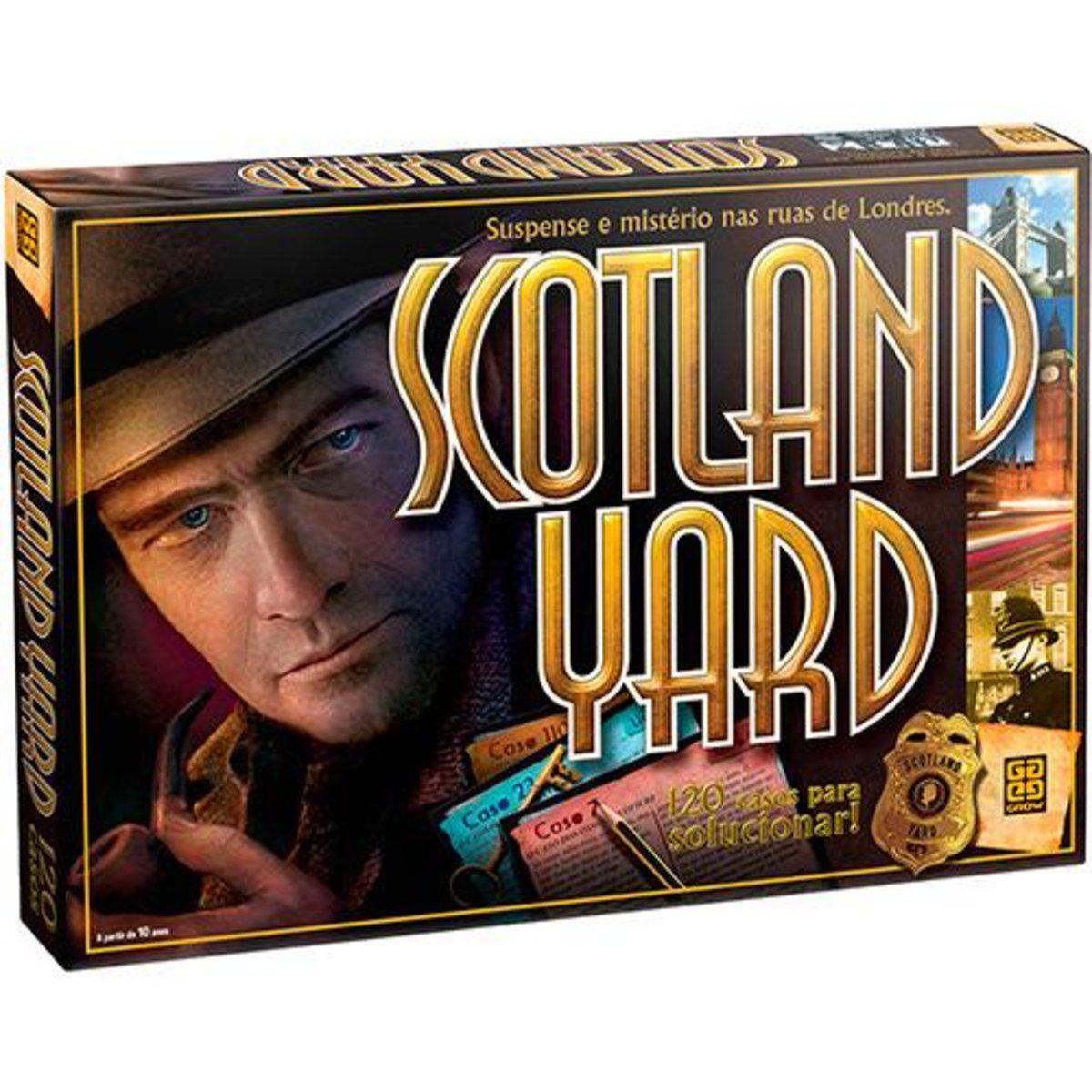 Jogo Scotland Yard 60 Peças - Grow