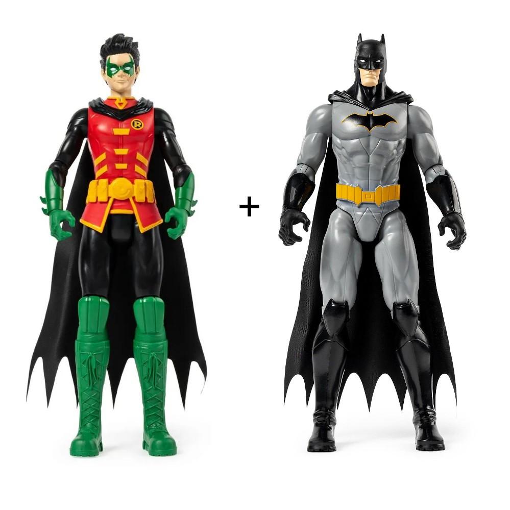 Kit Boneco Batman e Robin Dc 30cm Original - Sunny