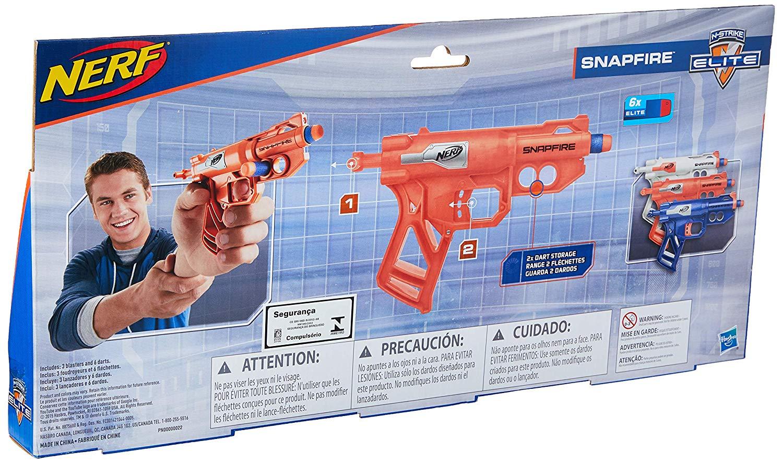 Kit com 3 Lançadores Nerf Snapfire - Hasbro