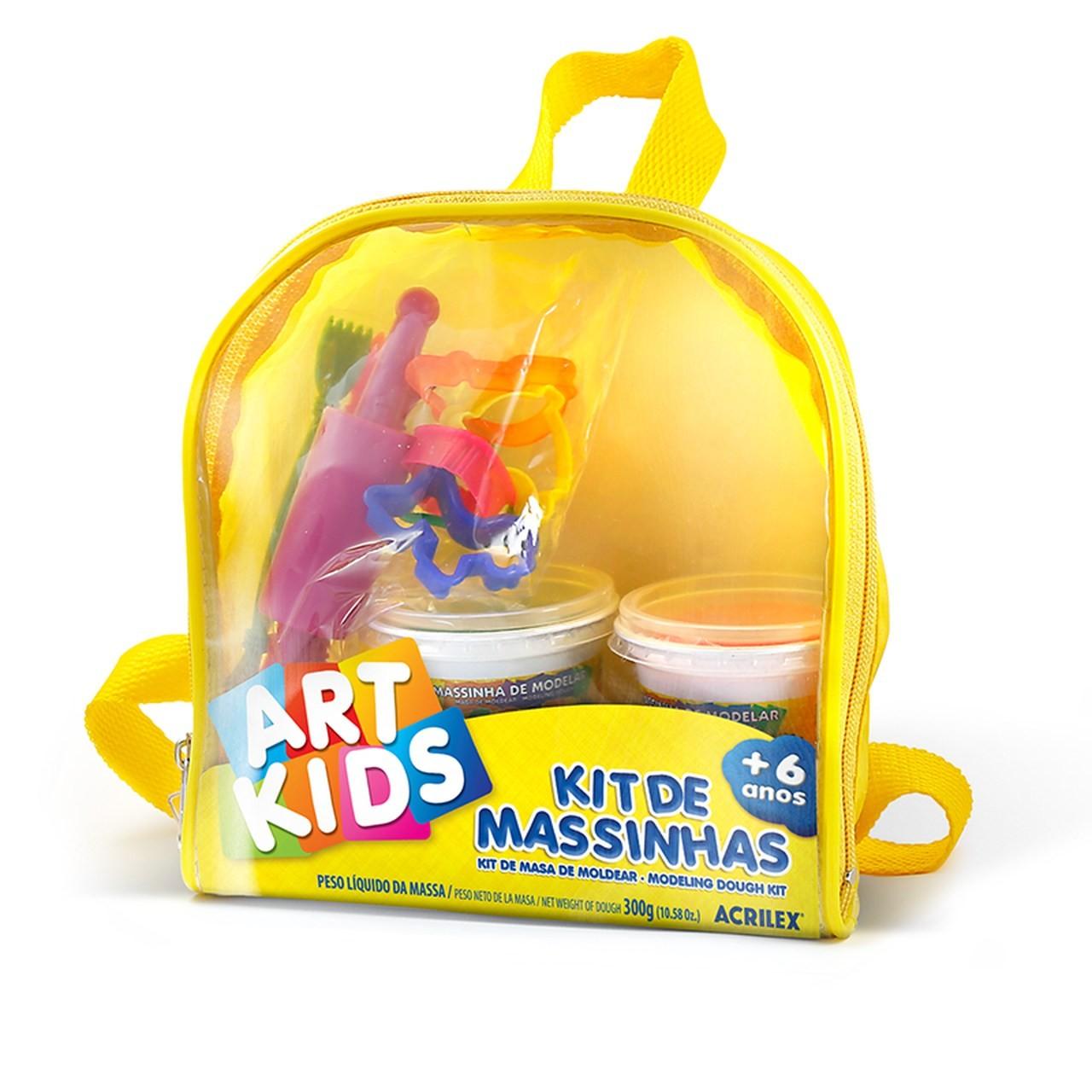 Kit De Massinhas Art Kids 300g Mochilinha - Acrilex 40012