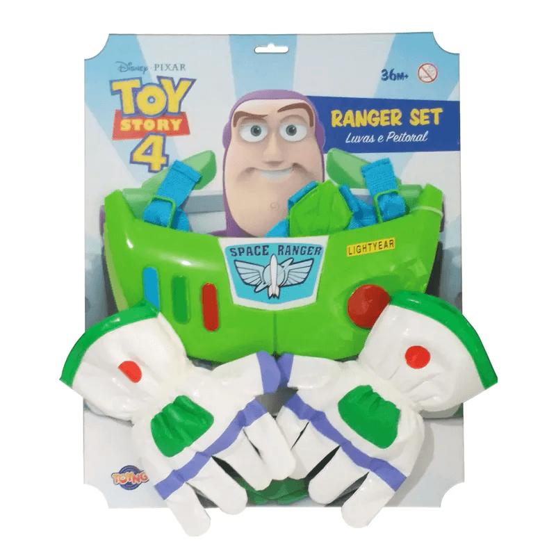 Kit Luvas e Peitoral do Buzz Lightyear Toy Story 4 - Toyng