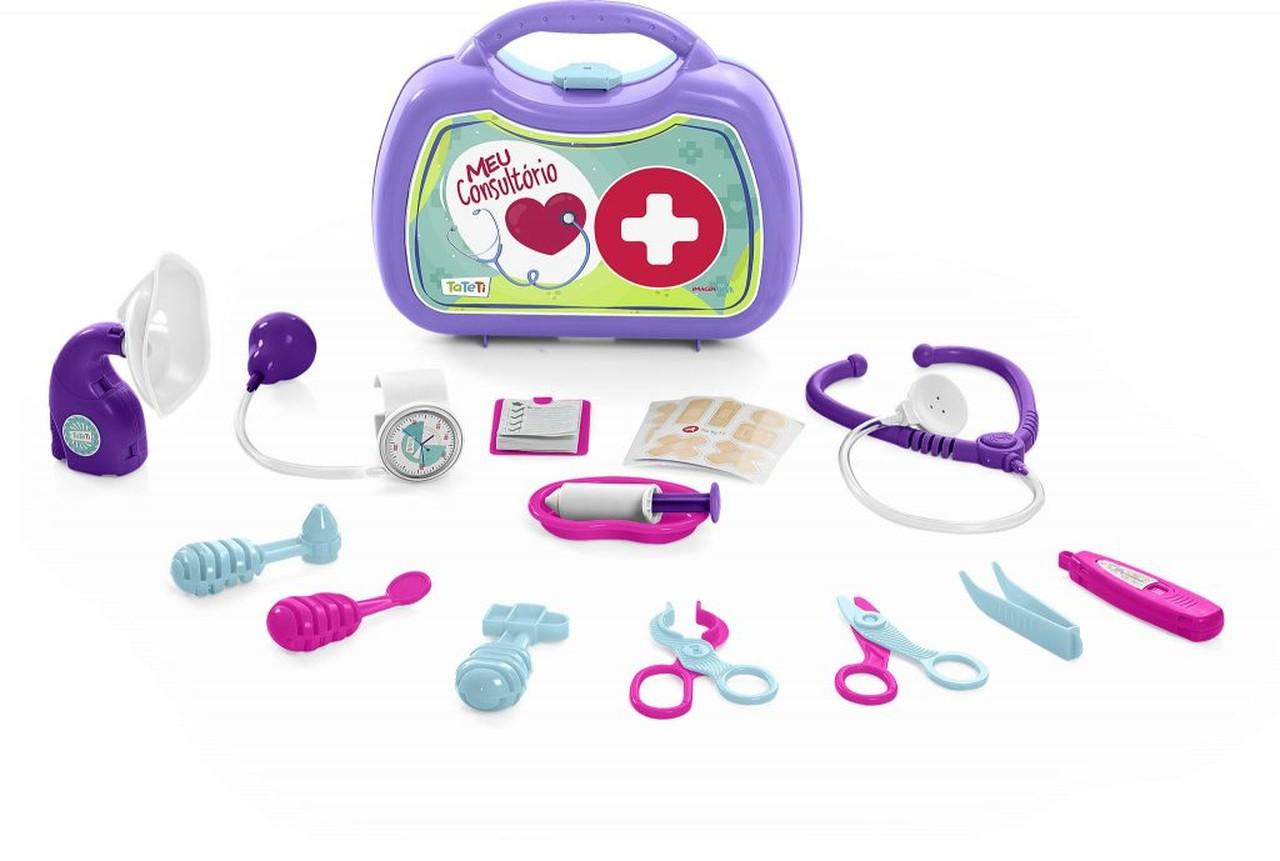 Kit Maleta Medica Imaginativa Consultório Rosa - Tateti 0221