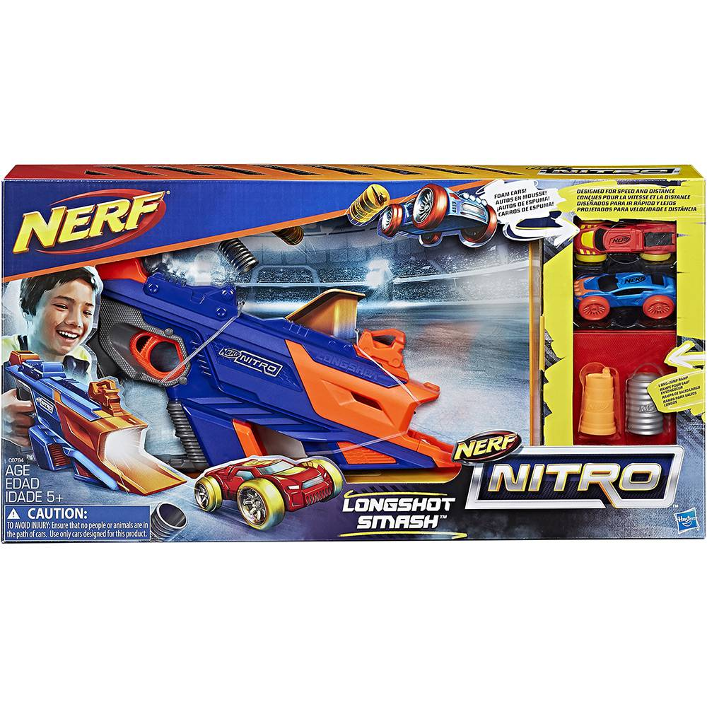 Lançador de Carro Nerf Nitro Longshot - Hasbro