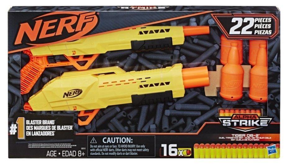 Lançador Nerf Alpha Tiger Com Alvo 16x Dardos - Hasbro