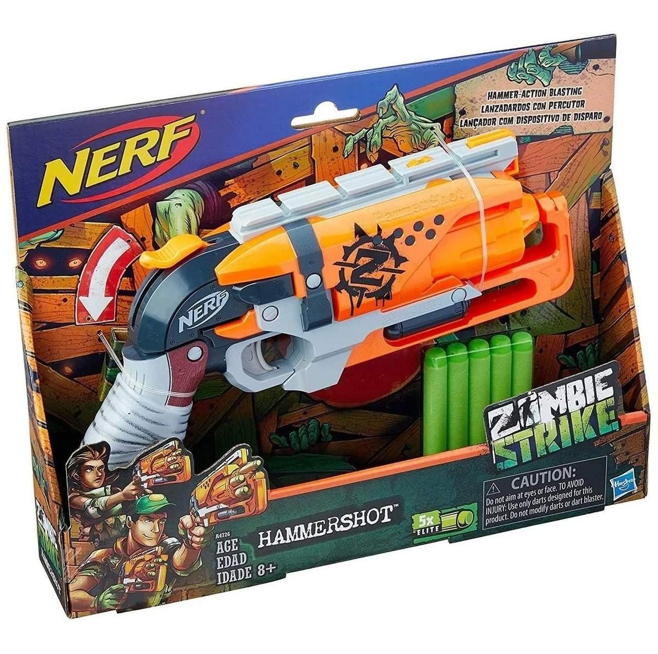 Lançador Nerf Hammershot Zombie Strike - Hasbro A4726