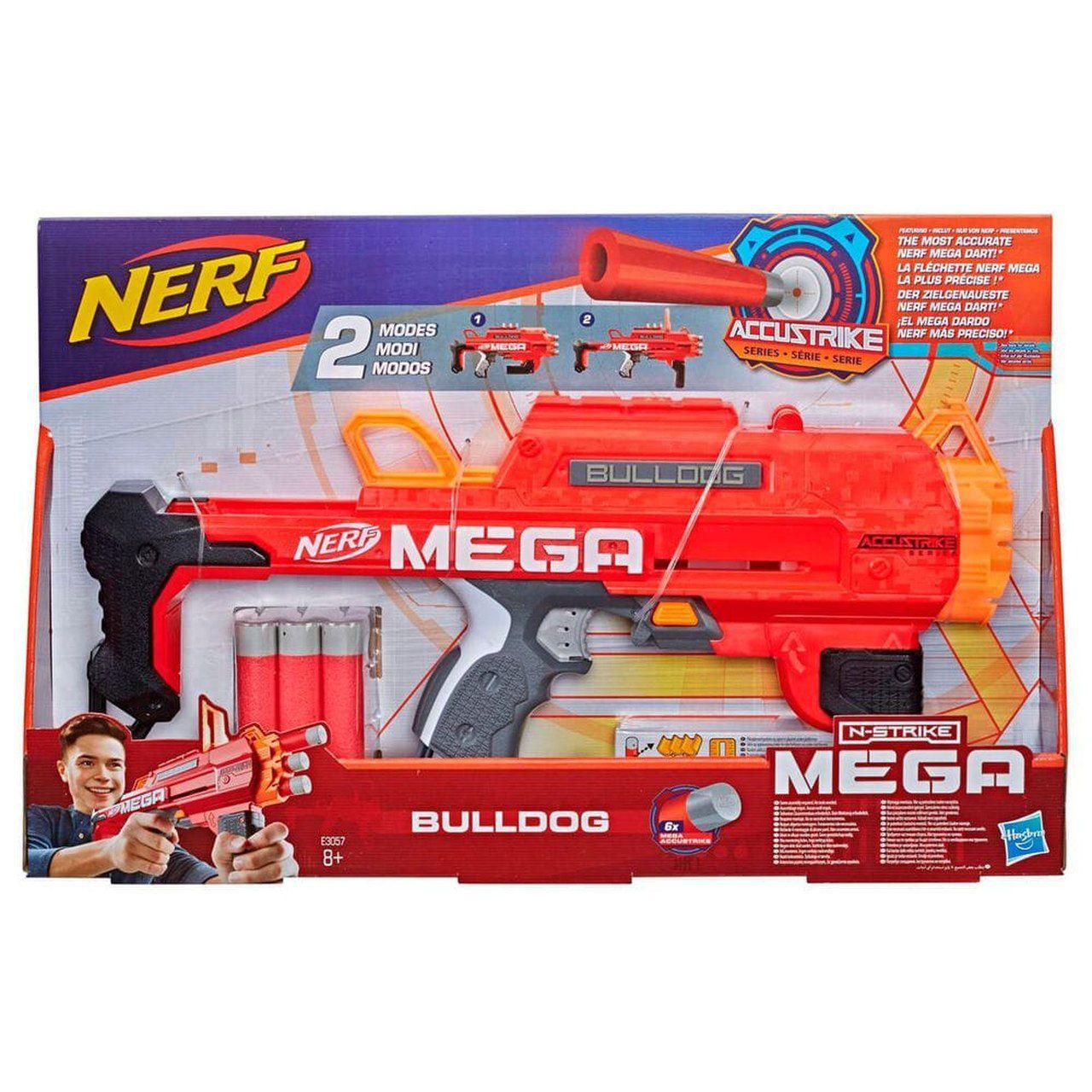 Lançador Nerf Mega Bulldog Com 2 Modos E 6 Dardos - Hasbro