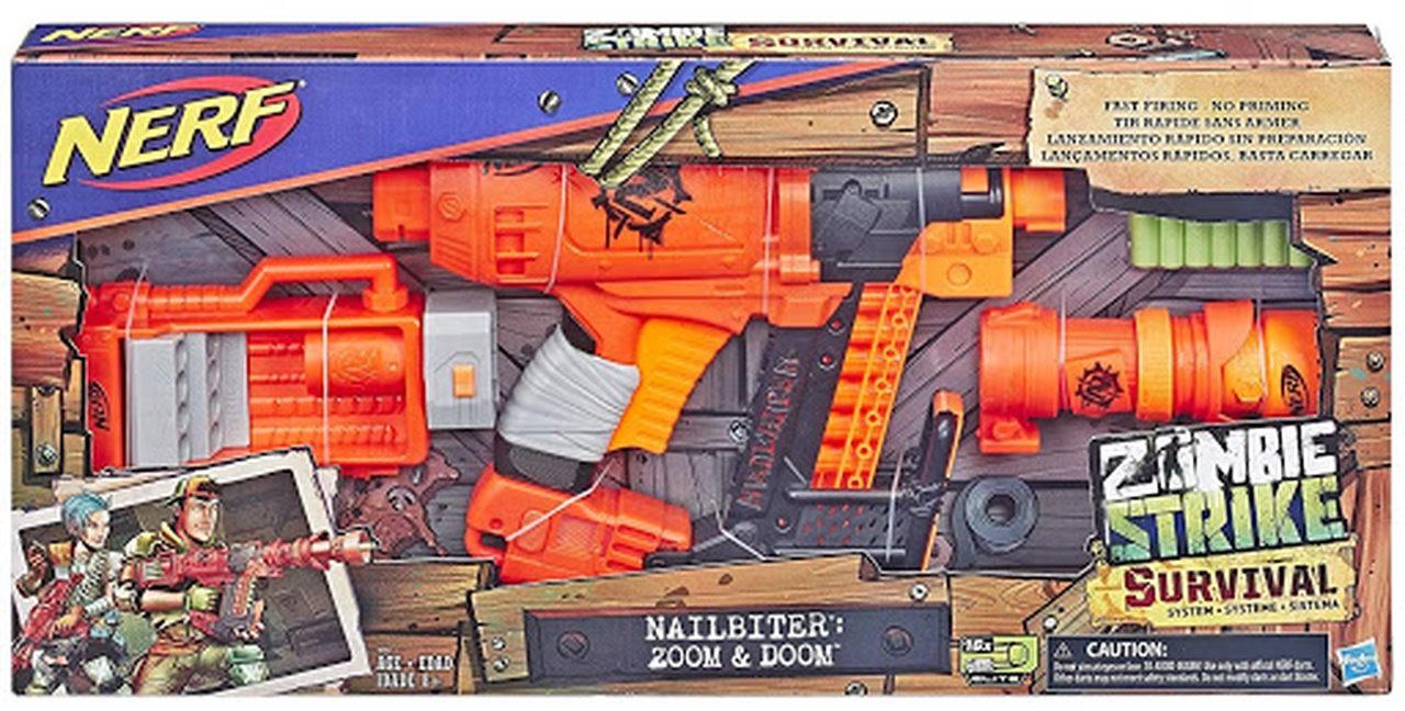 Lançador Nerf Zombie Strike Nailbiter XL - Hasbro E6163