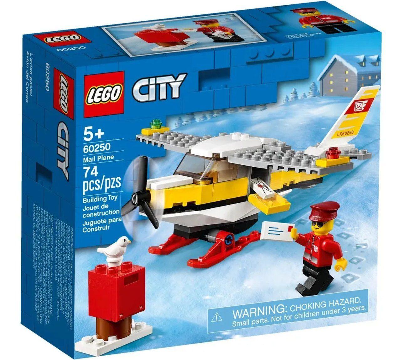 Lego City Avião Correio 74 Peças Original - 60250