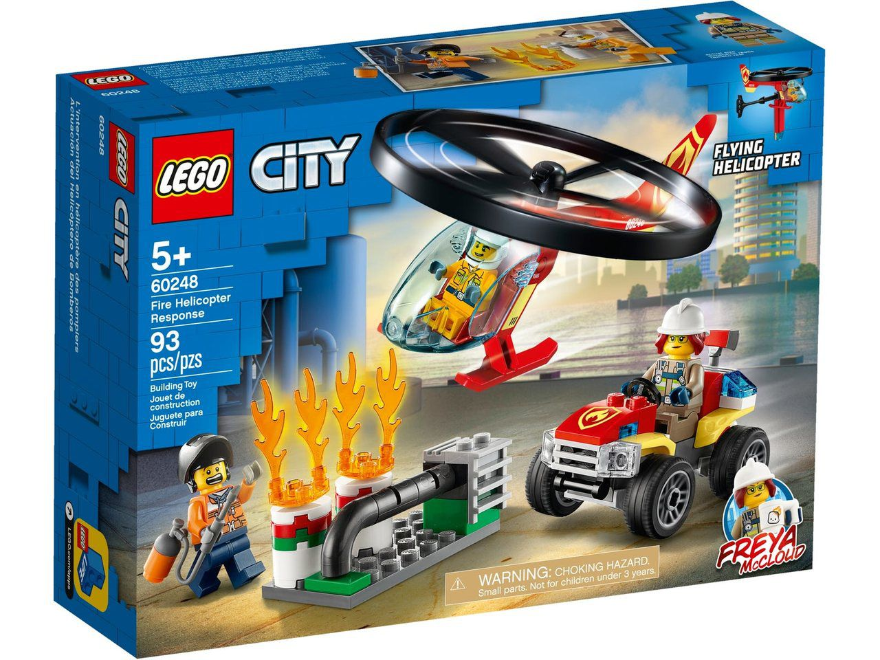 Lego City Combate Ao Fogo Com Helicóptero 93 Peças - 60248