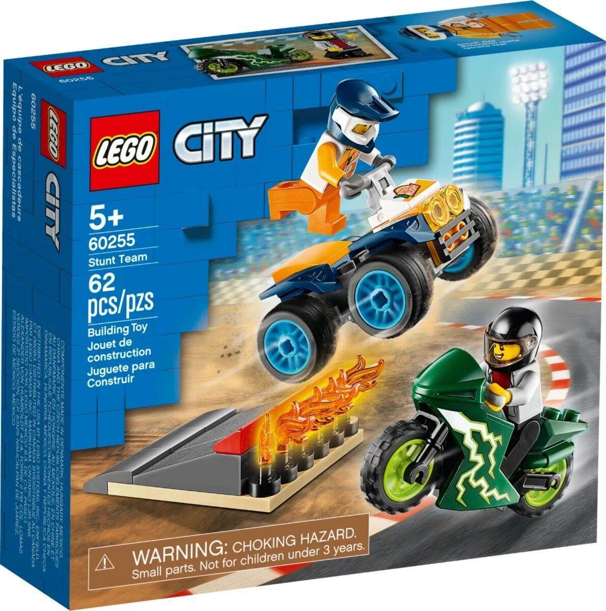 Lego City Equipe De Acrobacias 62 Peças - Original
