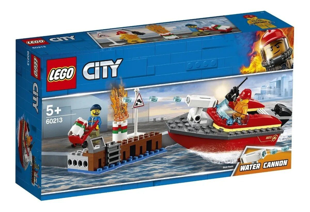 Lego City Incêndio Na Doca 97 Peças - Original