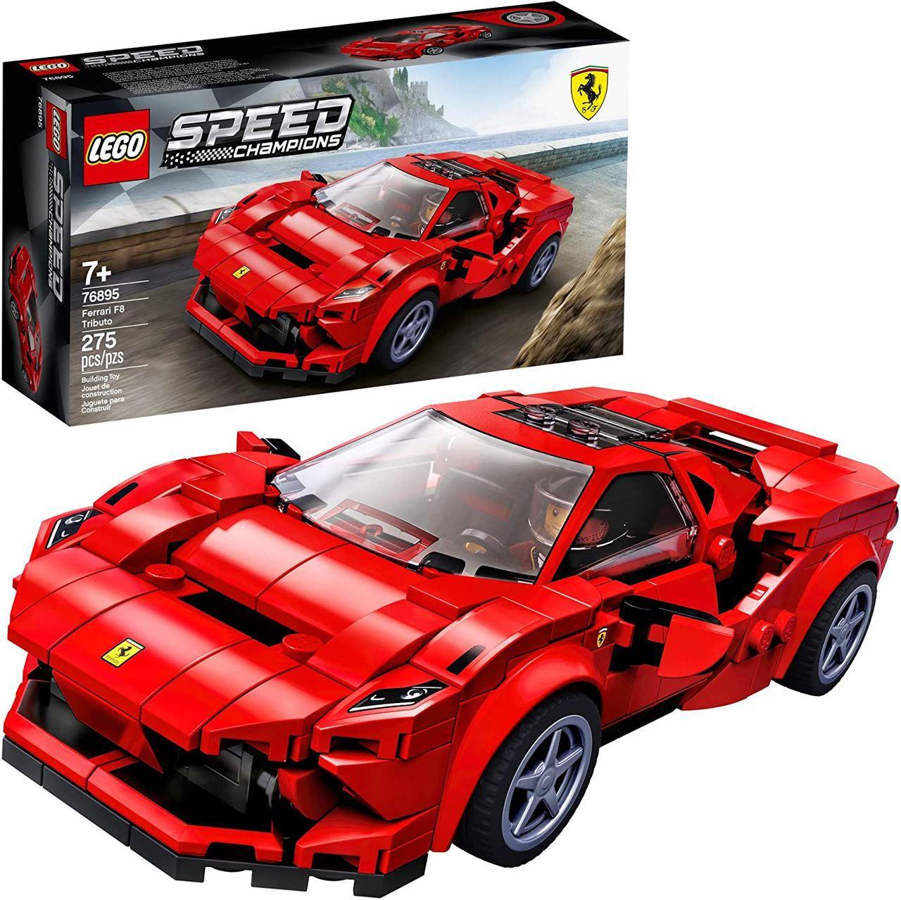 Lego Ferrari F8 Tributo Speed Champions 275 Peças - 76895