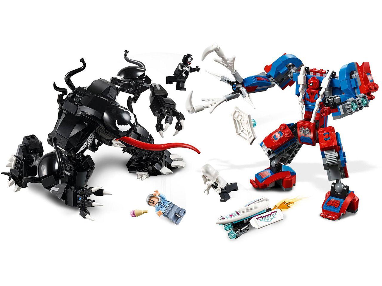 Lego Homem Aranha - Robô-Aranha Vs Venom - 604 Peças