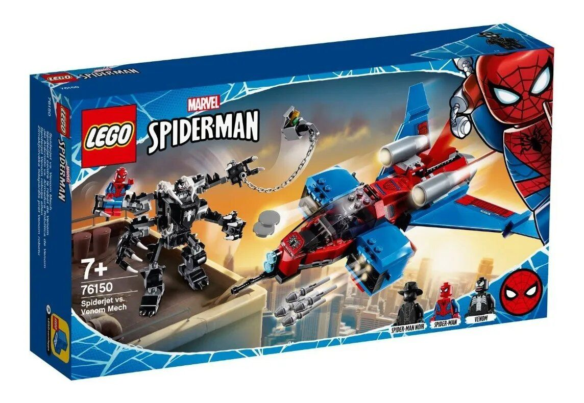 Lego Homem Aranha Spiderjet Vs Robo Venom 371 Peças 76150