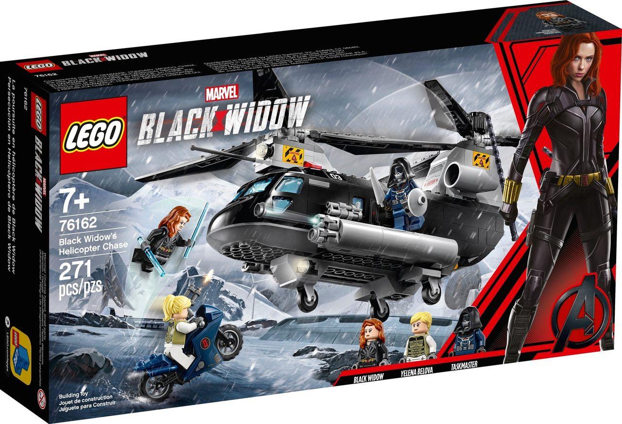 Lego Marvel Perseguição De Helicóptero Da Viúva Negra 76162