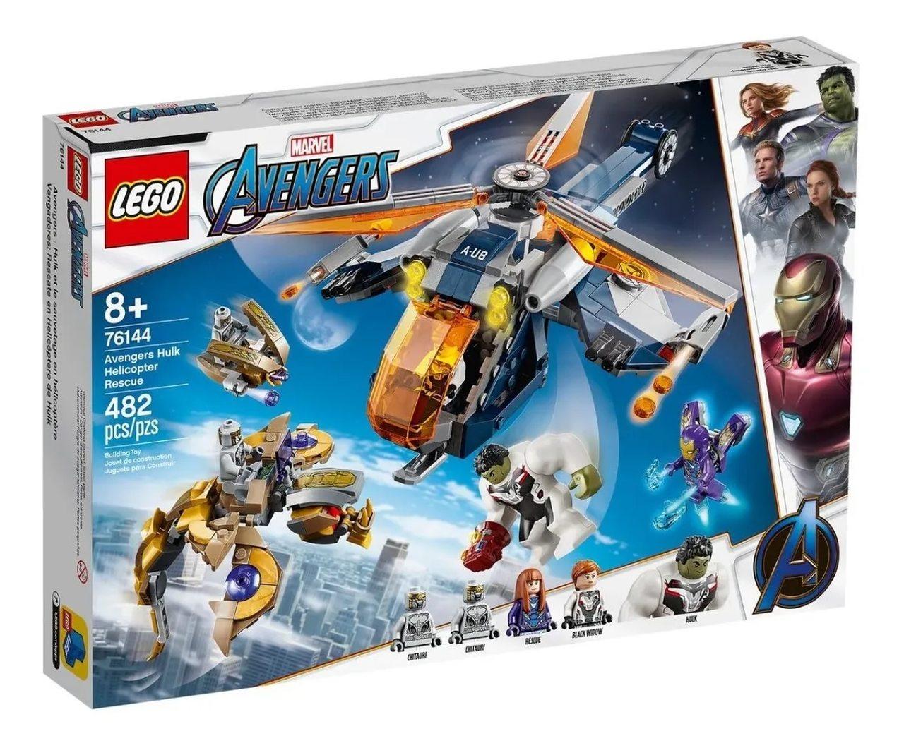 Lego Marvel Resgate De Helicóptero Vingadores Hulk 482 Peças