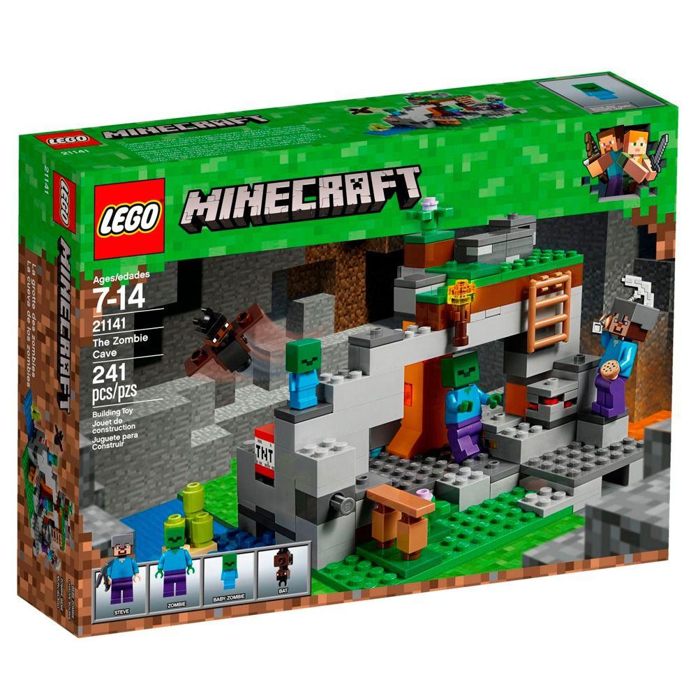 LEGO Minecraft - A Caverna do Zombie - 21141 - 241 Peças