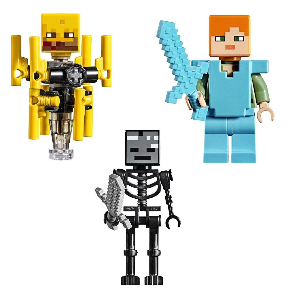 LEGO Minecraft - A Ponte Flamejante 372 Peças - 21154