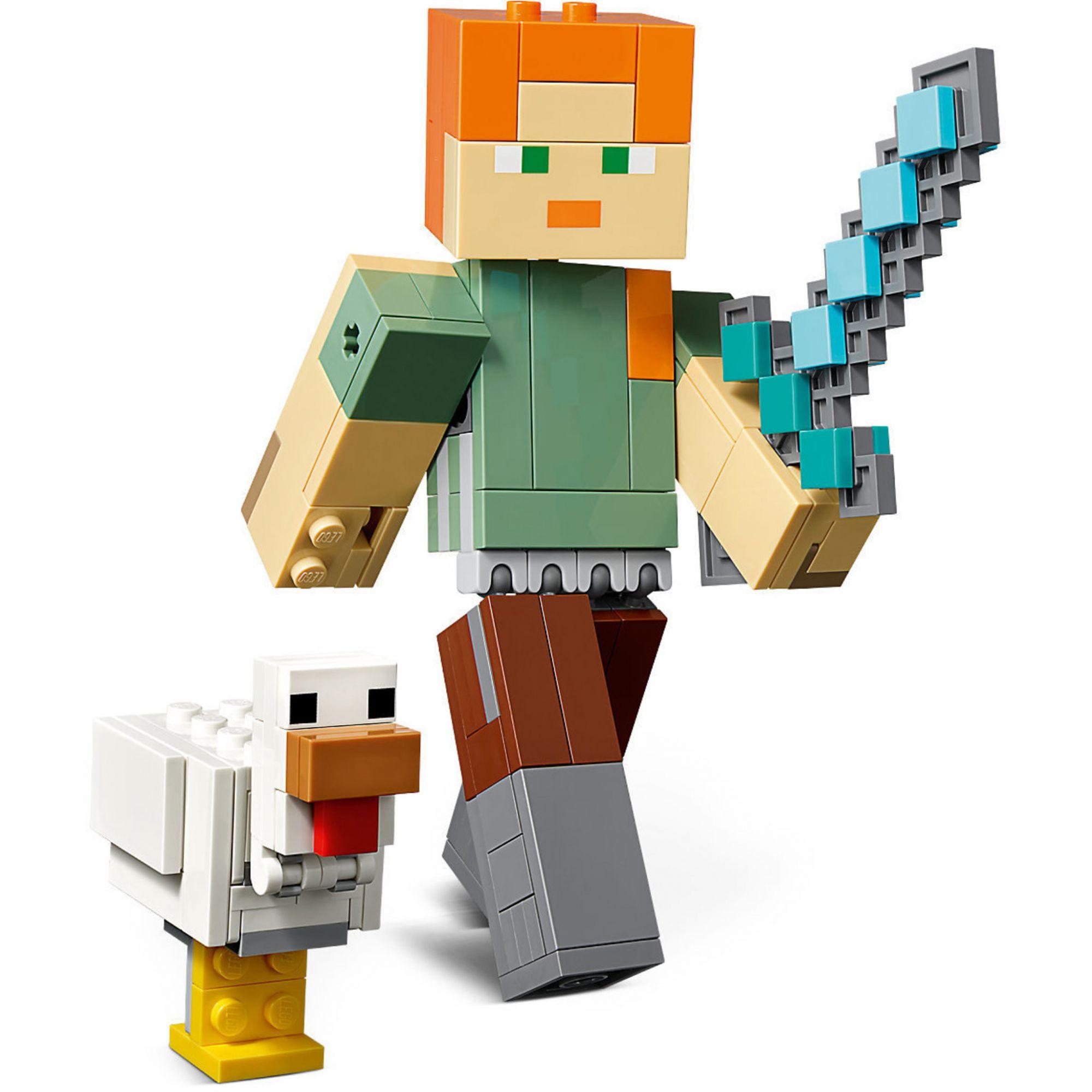 LEGO Minecraft - Alex Gigante e Galinha - 21149 - 160 Peças