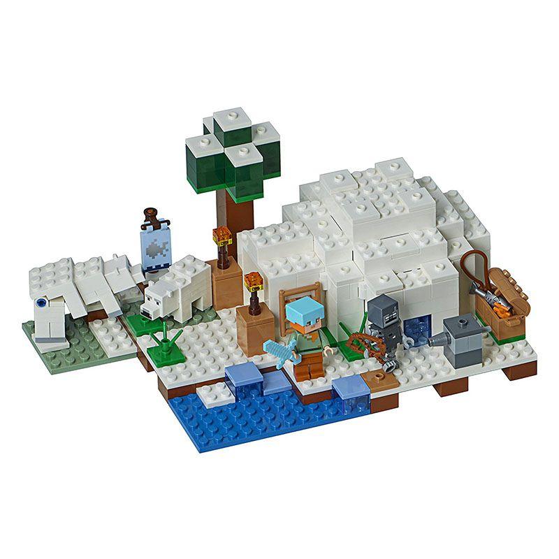 LEGO Minecraft - O Iglu Polar - 278 Peças - 21142
