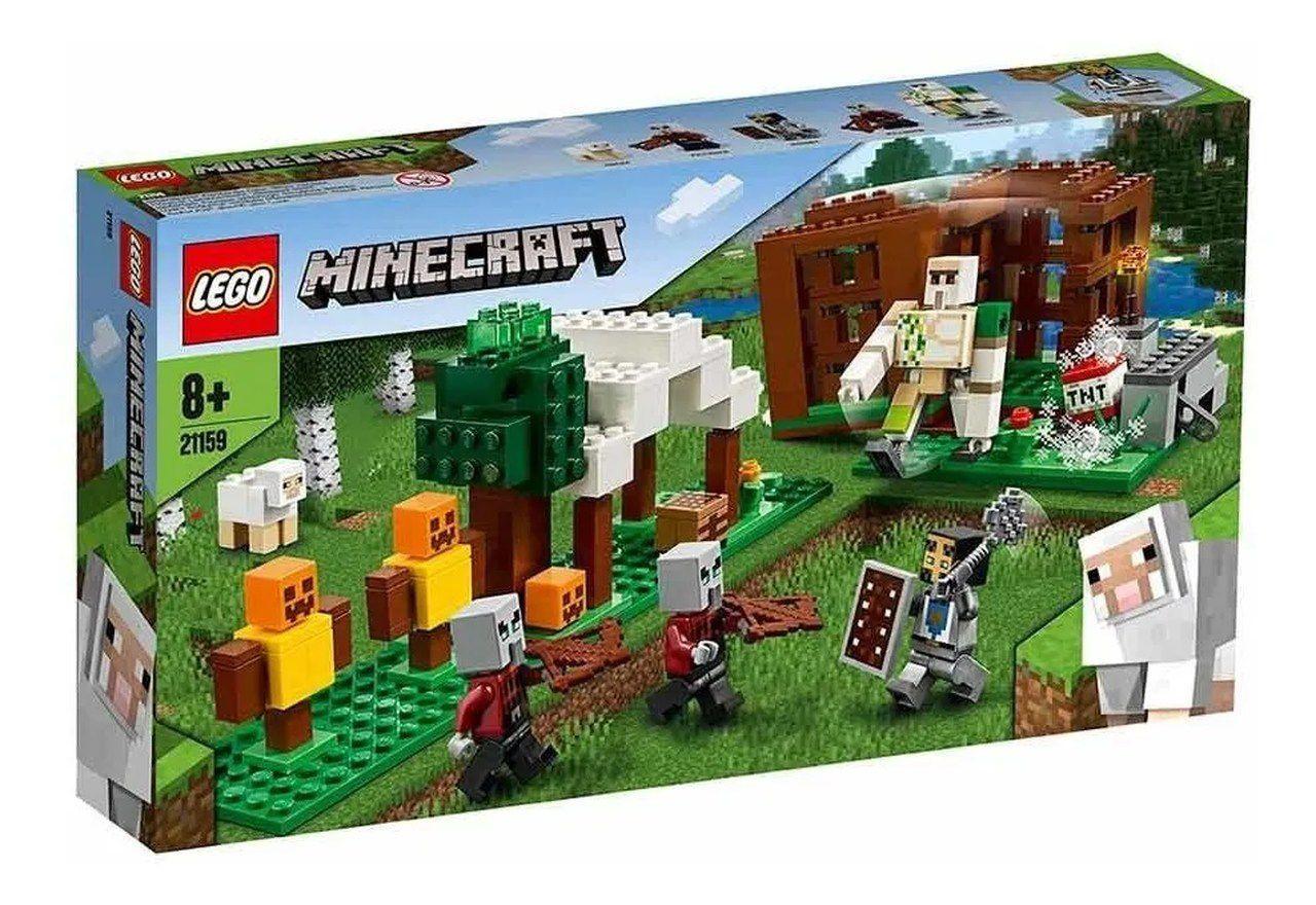 Lego Minecraft The Pillager Outpost 303 Peças-21159