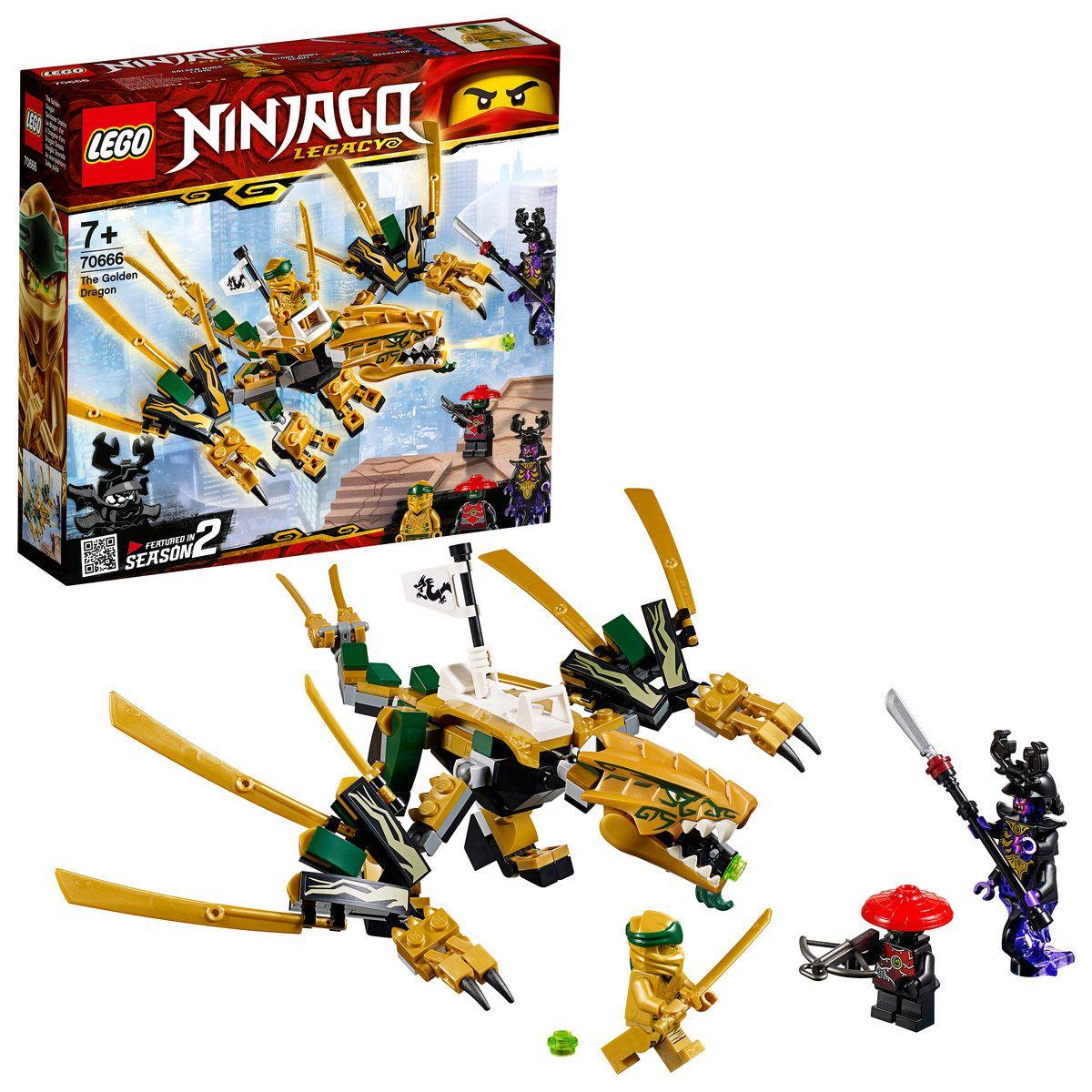 LEGO Ninjago O Dragão Dourado 171 Pçs - 70666