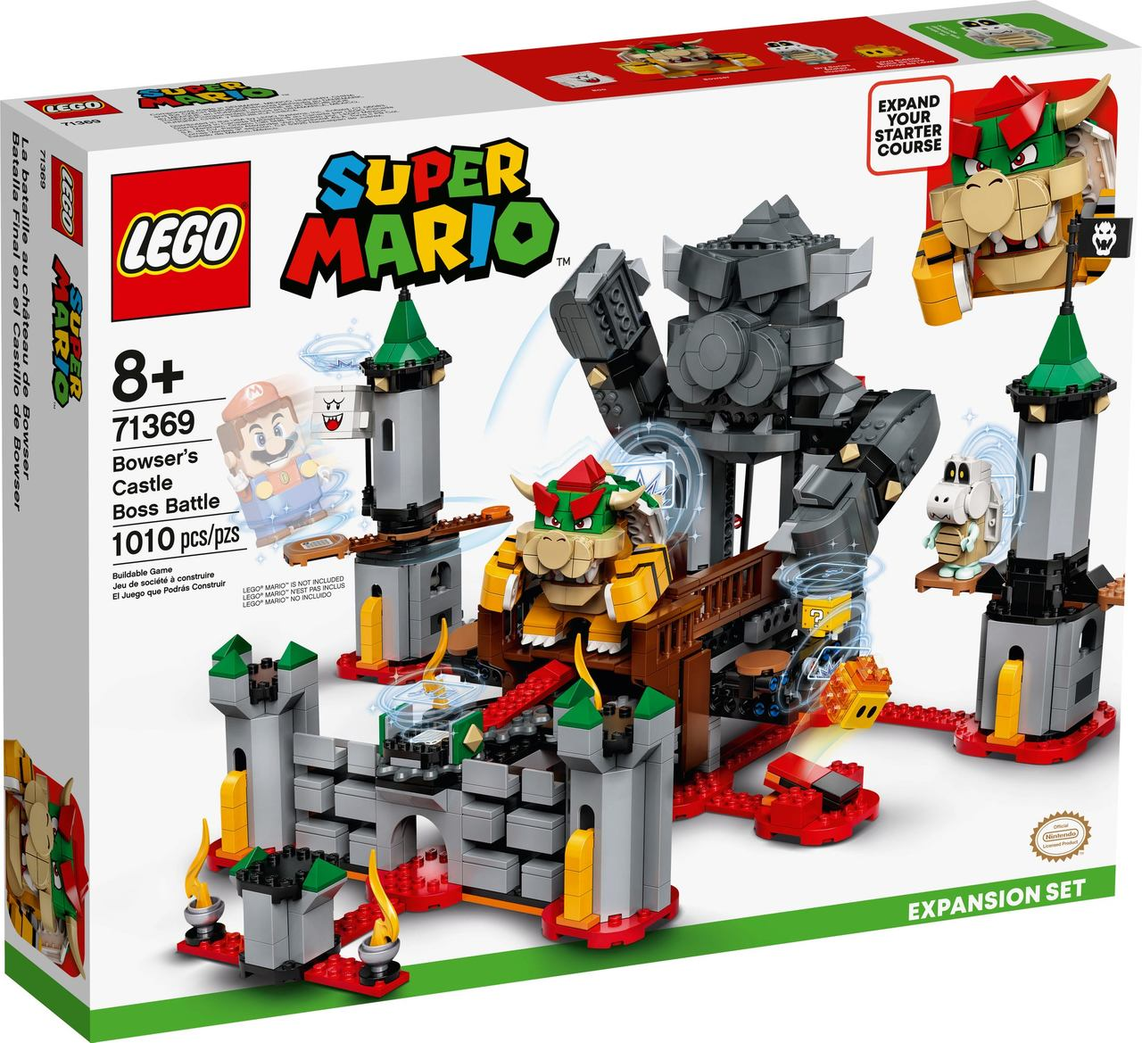 Lego Super Mario 1010 Pçs Expansão No Castelo Bowser - 71369