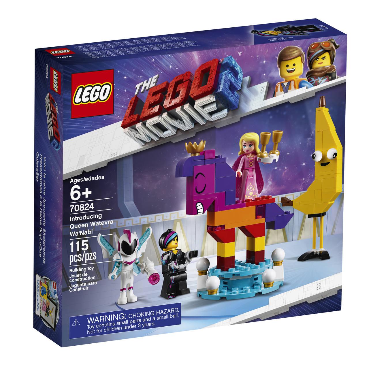 Lego The Movie 2 Apresentando Watevra Wa'nabi A Rainha 70824