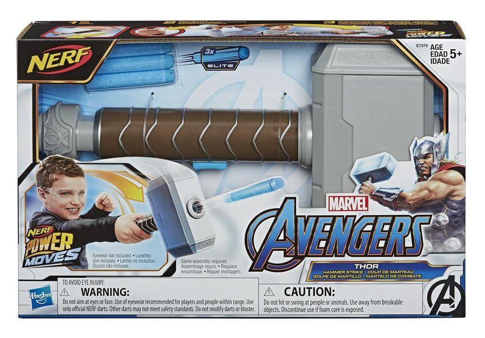 Martelo Do Thor Mjolnir Combate Nerf - Hasbro
