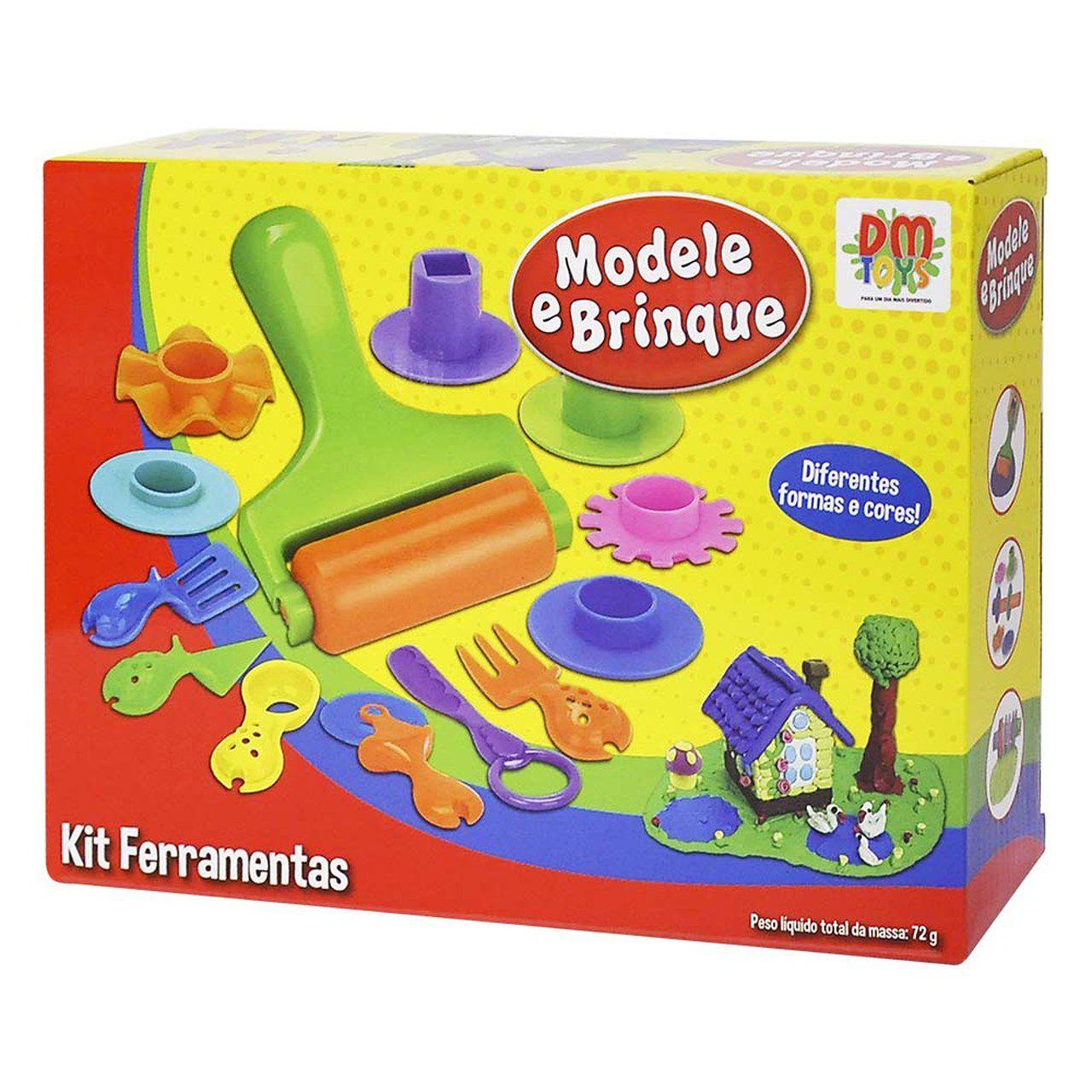 Massinha de Modelar Kit Ferramentas - DMToys