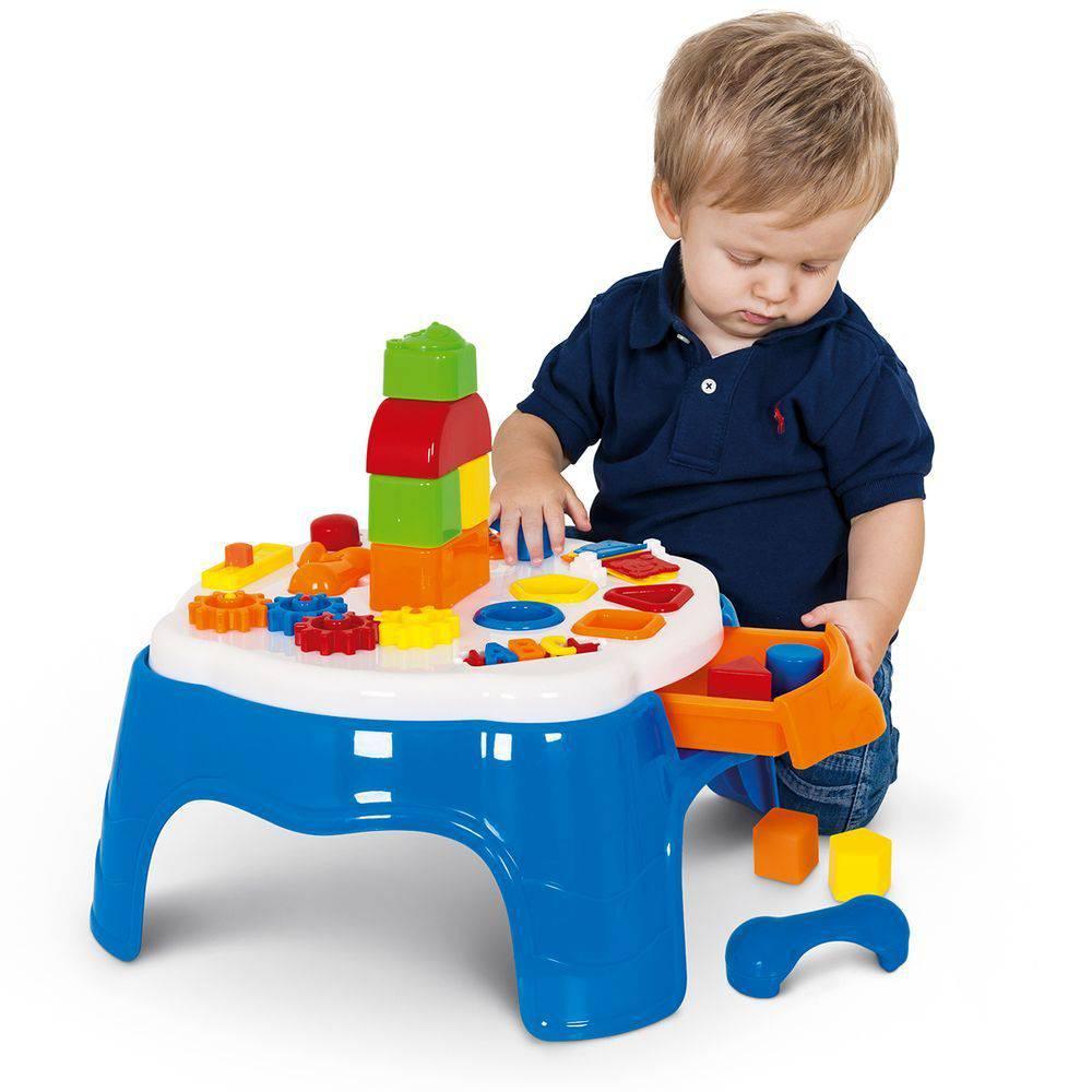 Mesa de Atividades Infantil Play Time com Gaveta 1950 - Cotiplás