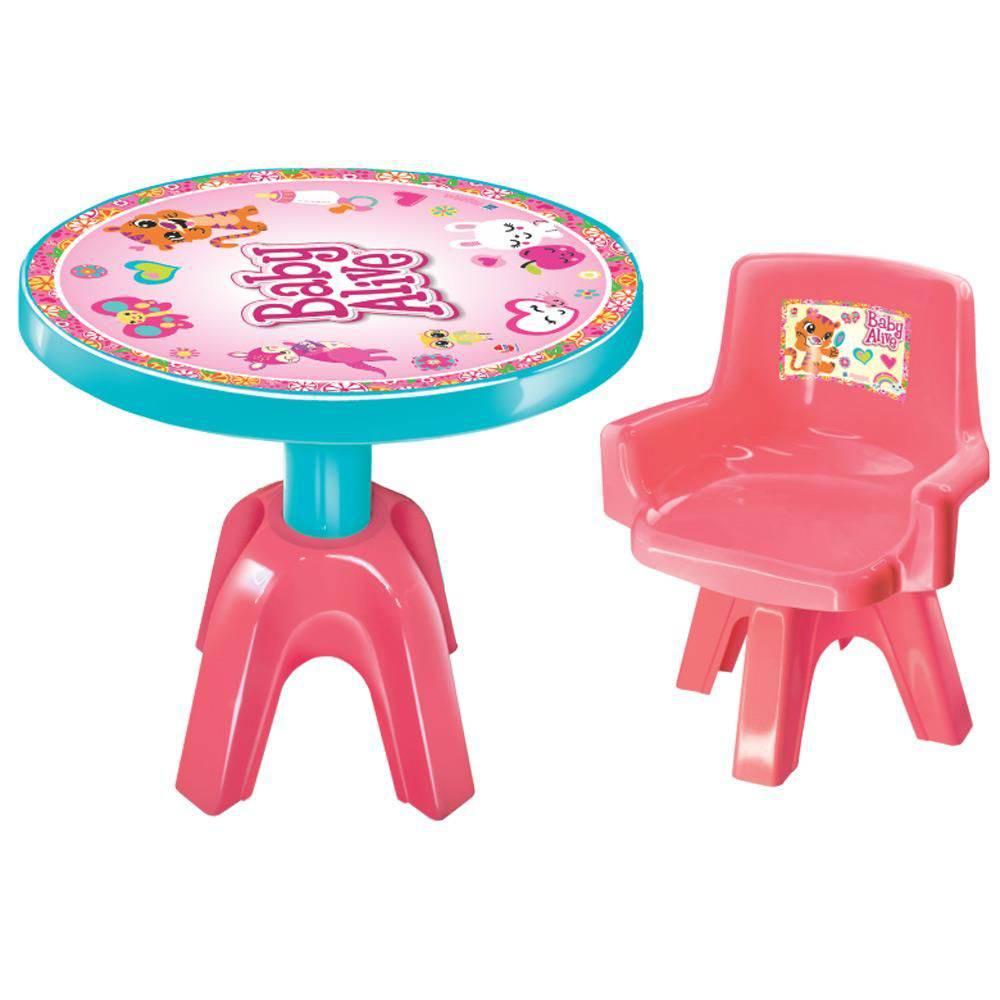 Mesa E Cadeira Baby Alive - Lider