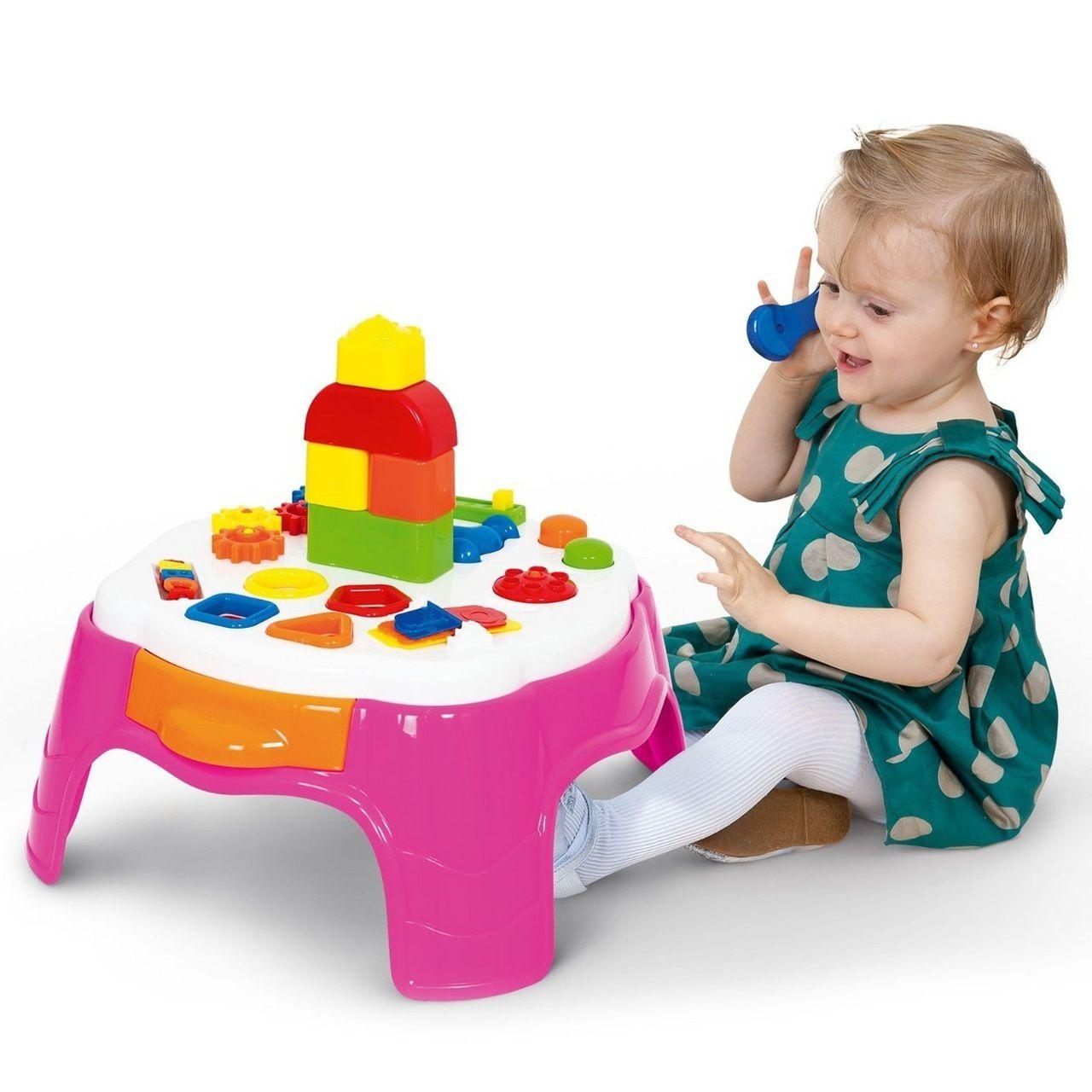 Mesinha de Atividades Infantil Play Time Rosa Cotiplás 2049
