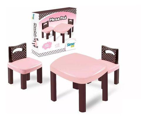 Mesinha Infantil Poá Com 2 Cadeiras - Simo Toys