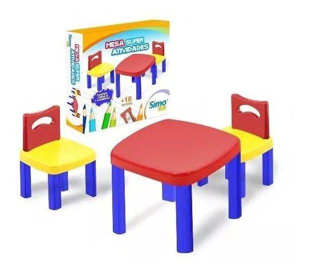 Mesinha Infantil Super Atividades Com 2 Cadeiras - Simo Toys
