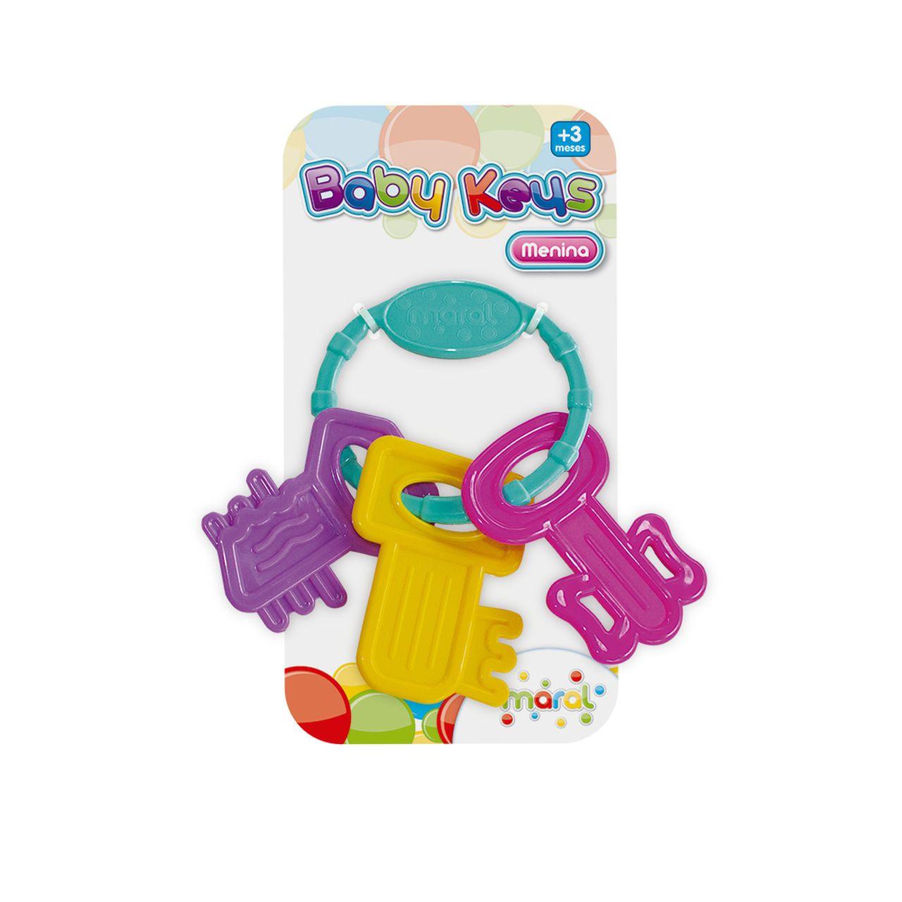 Mordedor Baby Keys Menina - Maral 3114