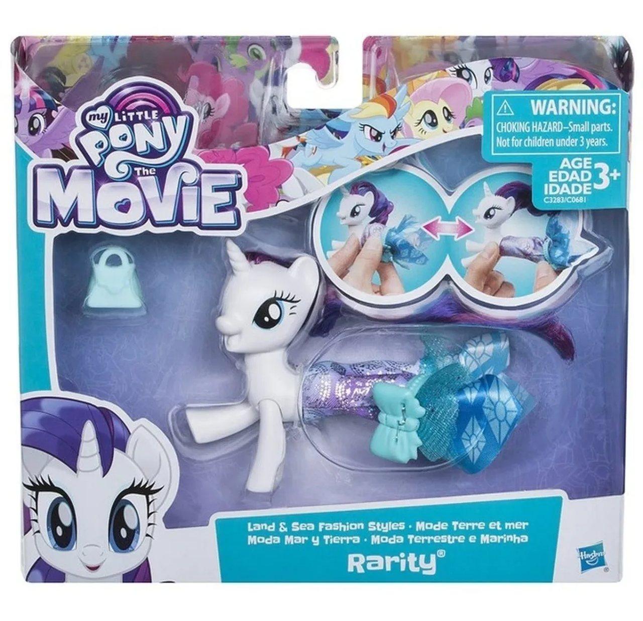 My Little Pony Boneca Terra E Mar Rarity - Hasbro C0681