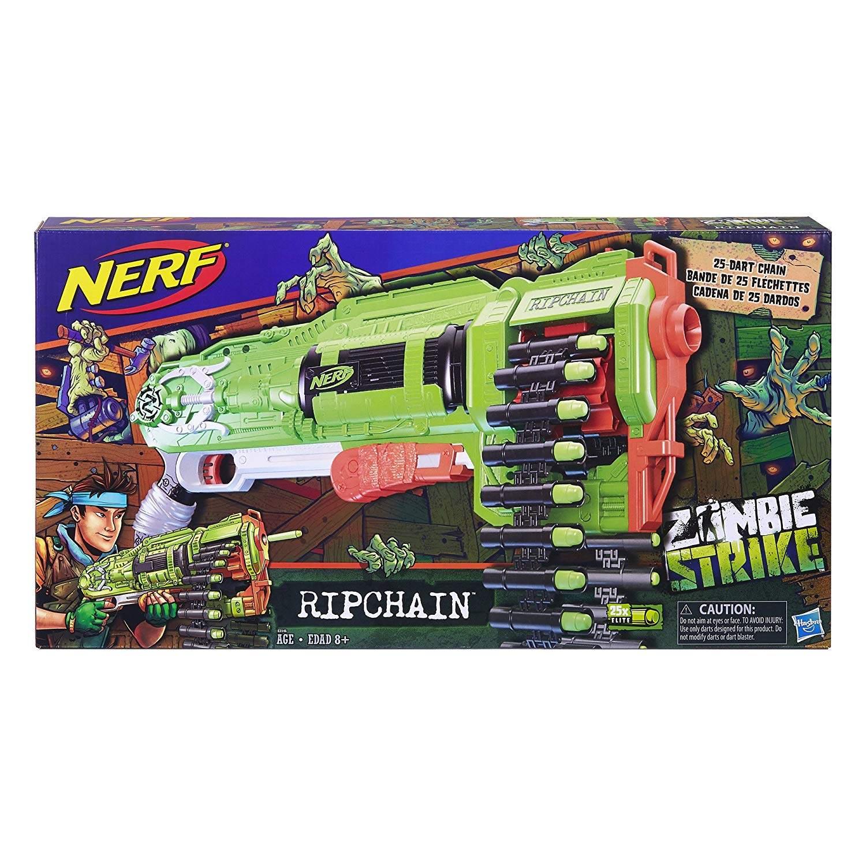 Nerf Lança Dardo Zombie Ripchain - Hasbro E2156