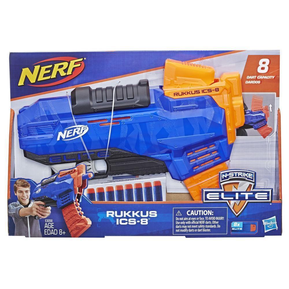 Nerf Lançador De Dardos Rukkus ICS-8 -  E3058 - Hasbro