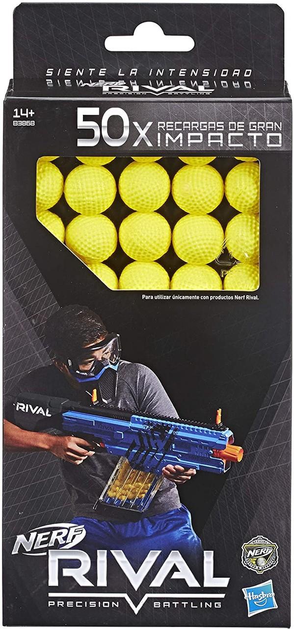 Nerf Rival Refil 50 Projéteis De Alto Impacto - Hasbro B3868