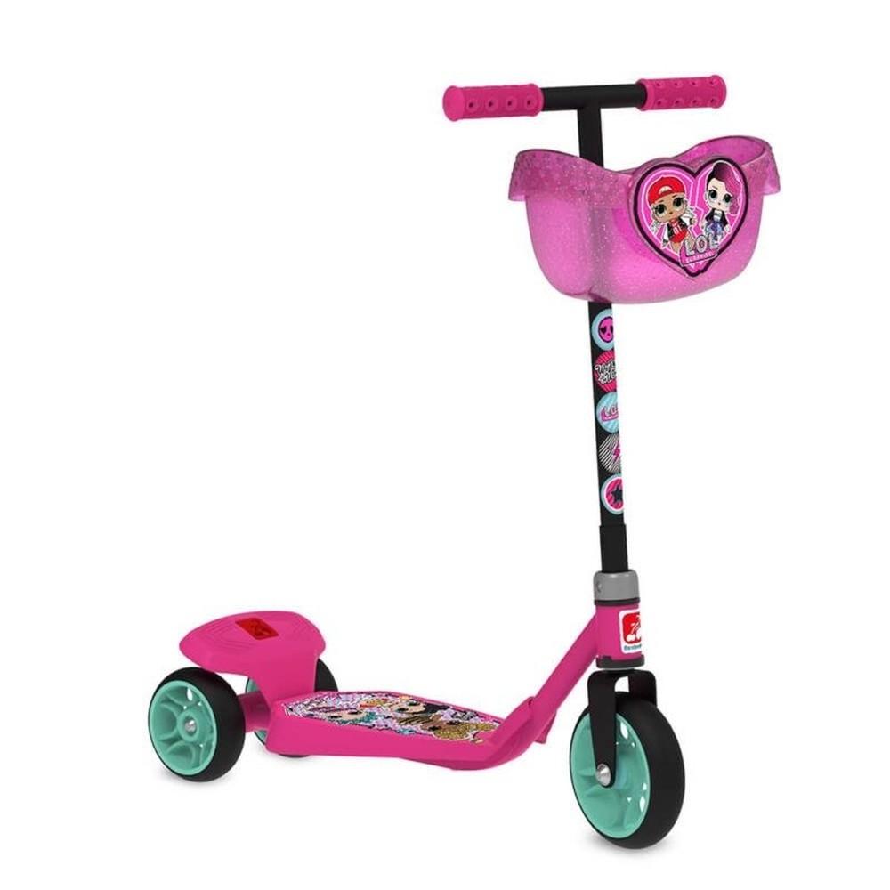 Patinete Infantil LOL Surprise 3 Rodas Rosa - Bandeirante