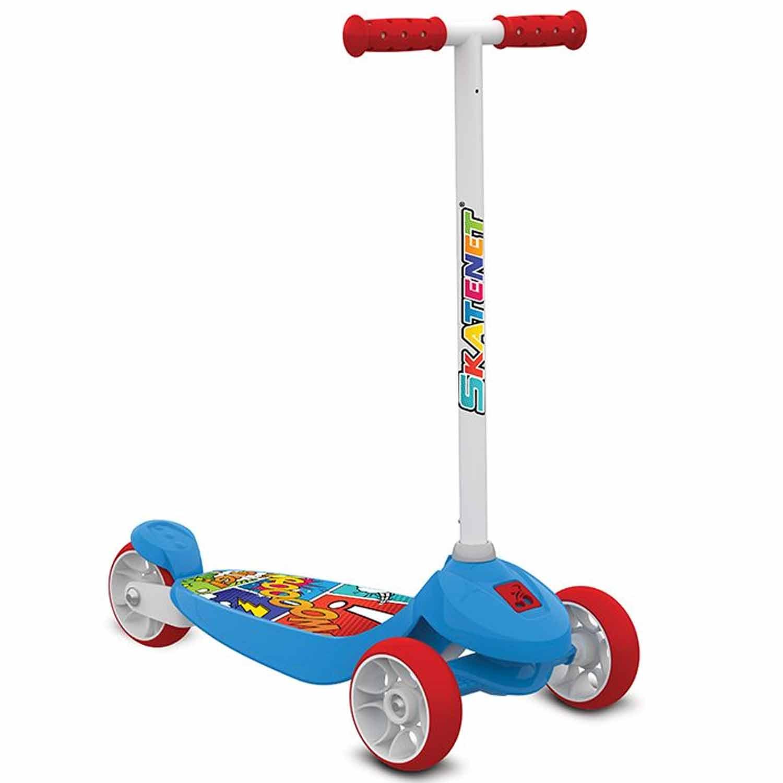 Patinete Infantil Skatenet Kid Azul - Bandeirante 1500