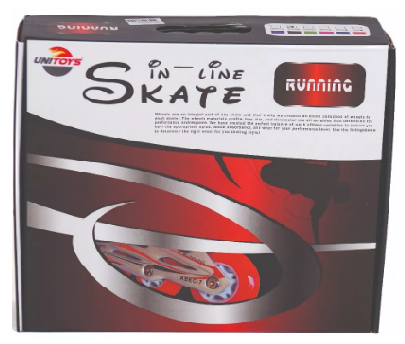 Patins Roller Inline Running Ajustavel - Unitoys