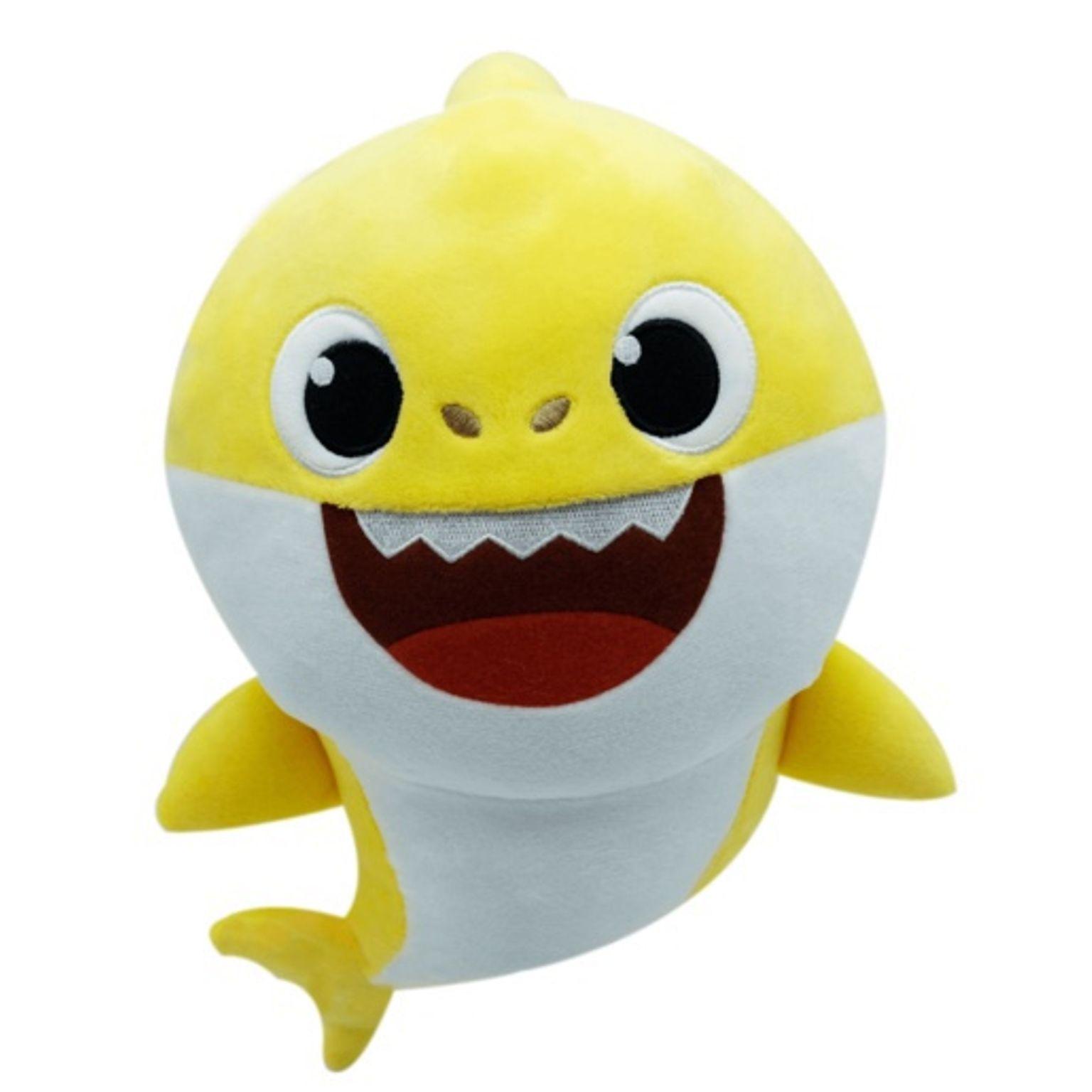 Pelúcia Baby Shark Com Música 30cm Amarelo Original - Toyng