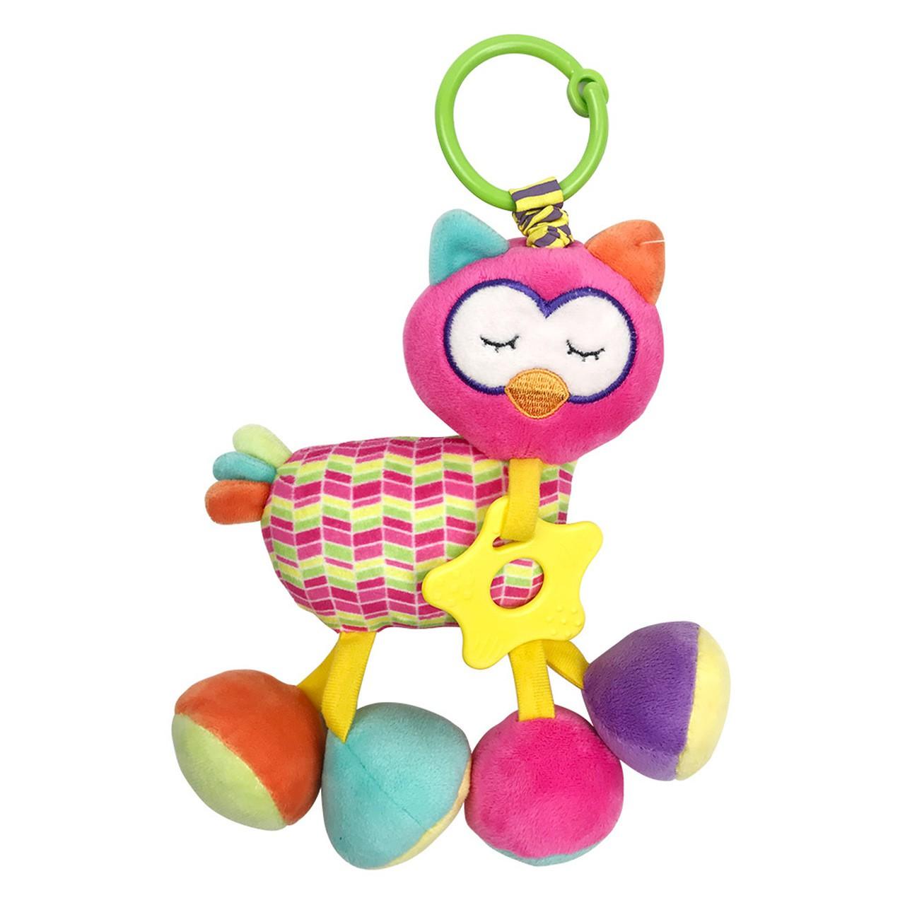 Pelúcia Infantil Corujinha Fofy Chocalho - Dm Toys 5981