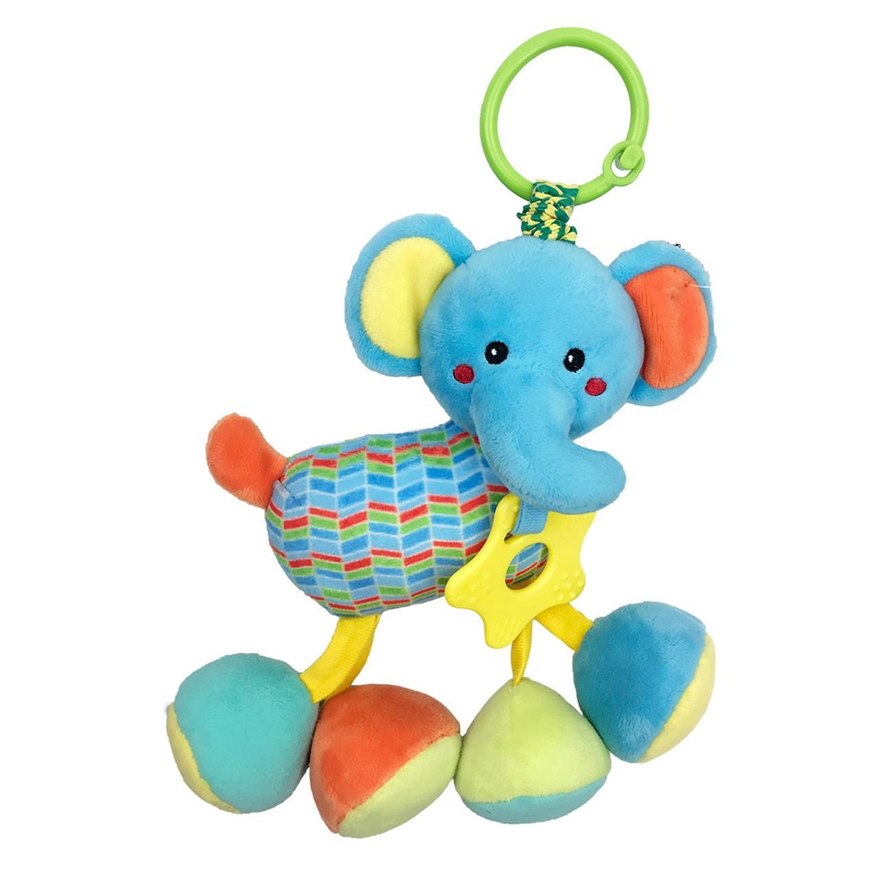 Pelúcia Infantil Elefantinho Fofy Chocalho - Dm Toys 5981